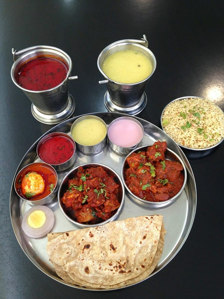 a plate of indian food